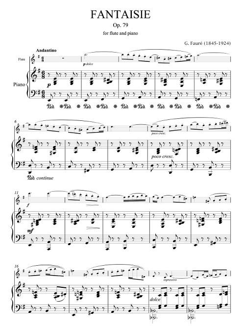 弗雷长笛作品《幻想曲OP.79》之探讨与诠释